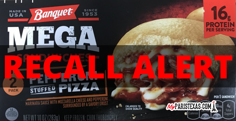 Banquet Mega Sandwiches Recall